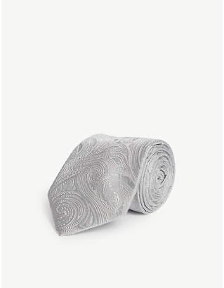 Eton Paisley pattern silk tie