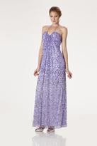 JS Boutique 263822 Ruched Halter Sequined Evening Dress