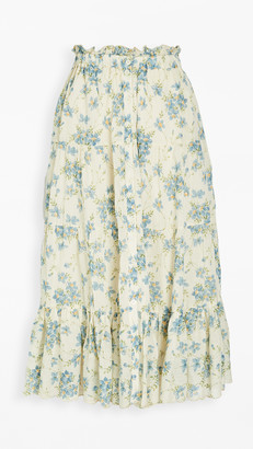 The Great The Button Up Tier Skirt.