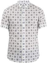 Alexander McQueen Floral-print short-sleeved cotton shirt