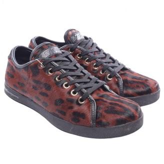Dolce & Gabbana Brown Fur Flats