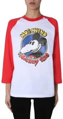 Moschino Mickey Rat Long Sleeve T-Shirt