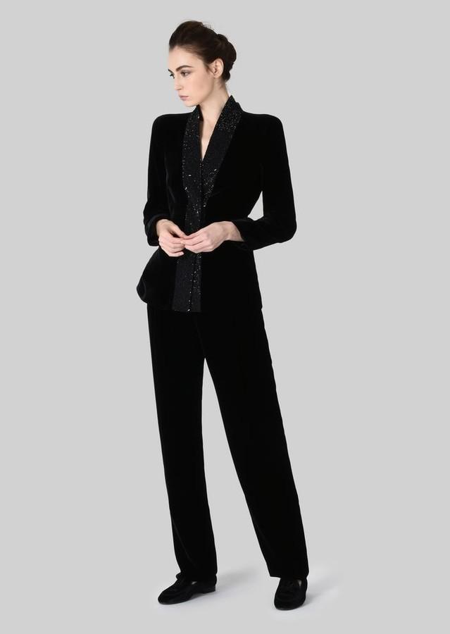 Giorgio Armani Tuxedo Jacket In Velvet