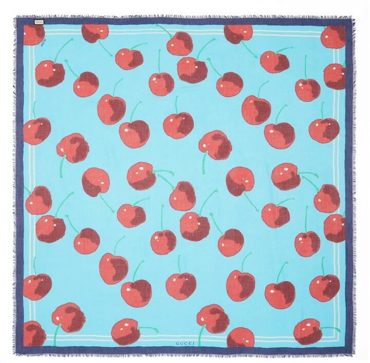 Thumbnail for your product : Gucci Ken Scott print modal silk shawl