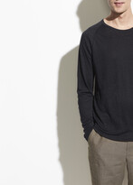 Linen Long Sleeve Crew