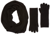 Sofia Cashmere Cashmere Jersey Scarf and Tech Glove Set