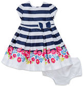 Little Me Baby Girls Baby Girls Striped Dress and Bloomers Set