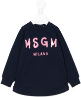 MSGM branded dress - kids - Cotton/Spandex/Elastane - 18 mth