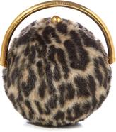 Stella McCartney Ball Leopard faux-fur classic clutch