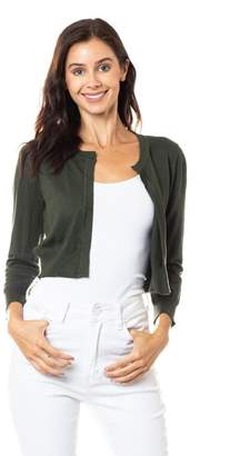 Karen Michelle Open Shrug With Neckline Closure