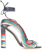 Paula Cademartori 'Crazy Stripes' sandals - women - Calf Leather/Leather - 40
