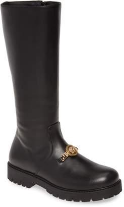 Versace Medusa Head Platform Knee High Boot