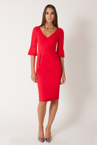 Black Halo Adrienne Sheath Dress In Chic Red