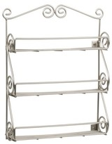 Spectrum Scroll Spice Rack Wall Mount Boxed - Satin Nickel