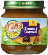 Earth's Best 2nd Foods Fruit & Whole Grain - Prunes & Oatmeal - 4 oz - 12 pk