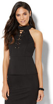 New York & Co. Lace-Up Halter Top