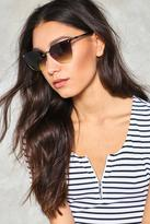 Nasty Gal nastygal Cat Got Your Tongue Half-Frame Shades