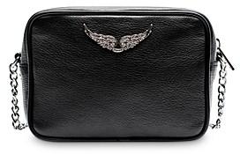 Zadig & Voltaire Boxy Small Leather Crossbody Camera Bag