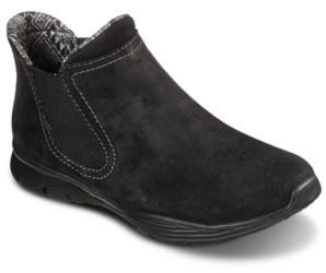 Skechers Women's Relaxed Fit Bikers - Mc Sgr Chelsea Boots from Finish Line