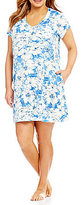 Miss Elaine Plus Floral Cottonessa Nightgown
