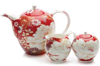 Maxwell & Williams Kimono 3-Piece Bone China Tea Set