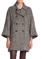 Brunello Cucinelli Wool & Alpaca Houndstooth Coat