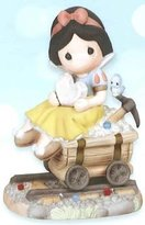 Precious Moments Figurine, Disney Snow White on Coal Car