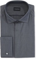 Ermenegildo Zegna Men's Solid Melange Cotton Dress Shirt