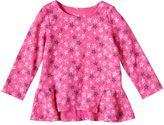 Baby Girl Jumping Beans® Glittery Print Peplum Top