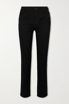 J Brand Teagan High-rise Straight-leg Jeans - Black