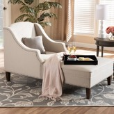 Ophelia Ezio Modern and Contemporary Chaise Lounge & Co. Upholstery Color: Beige