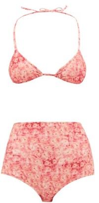 Adriana Degreas Hydrangea-print Triangle Bikini - Pink Print