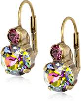 """Sorrelli Volcano"""" Round Crystal French Wire Earrings"""