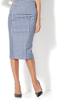 New York & Co. 7th Avenue - Pull-On Pencil Skirt - Gingham - Petite