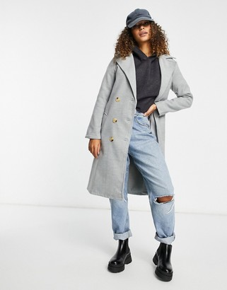 I SAW IT FIRST double breasted coat in grey