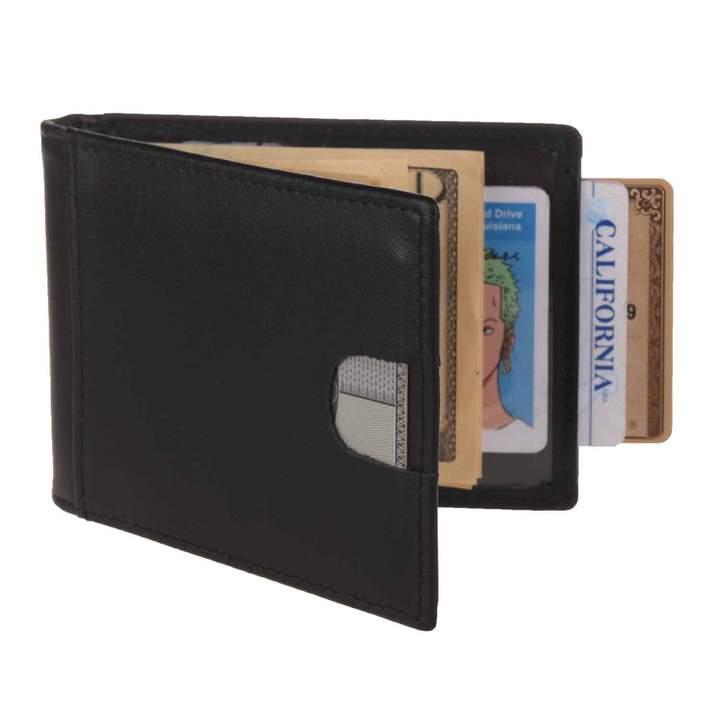 f8acd6881405 Texbo RFID Blocking Genuine Cowhide Leather Slim Bifold Wallets Men Money  Clip