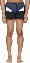 Fendi Black bag Bugs Swim Shorts