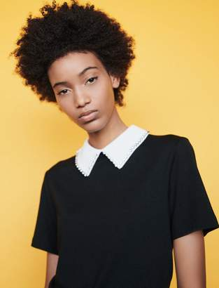 Maje T-shirt with removable collar