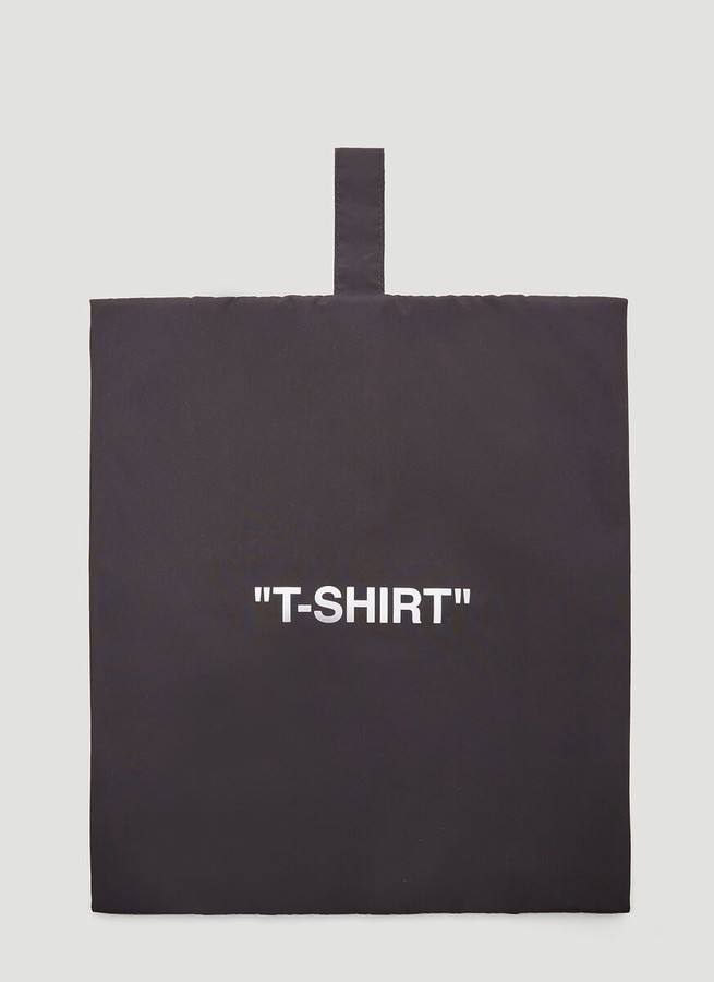 Off-White Quote Printed Garment Bag
