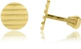 Torrini Stripes - 18K Yellow Gold Round Cufflinks