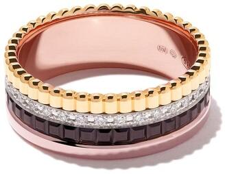 Boucheron 18kt yellow, rose, and white gold Diamond Quatre Classique small ring