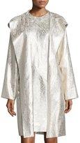 Shamask Hooded Metallic Raincoat, Gold