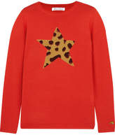 Bella Freud Iggy Leopard Wool-blend Sweater - Red