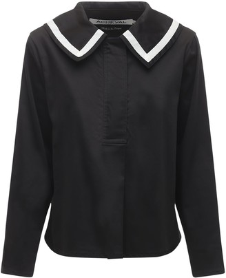 ÀCHEVAL PAMPA Sailor Cotton Satin Shirt