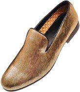 Amali Mens Classic Metallic Printed Tuxedo Slip On Dress Shoe: Style Ashby-035