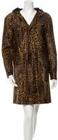 Diesel Black Gold Cheetah Print Ponyhair Coat