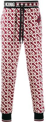 Dolce & Gabbana Logo Tape Monogram Print Track Pants