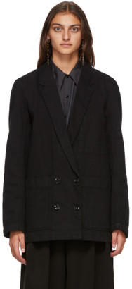 Lemaire Black Denim Double-Breasted Jacket