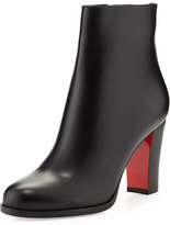 Christian Louboutin Adox Leather 85mm Red Sole Ankle Boot, Black