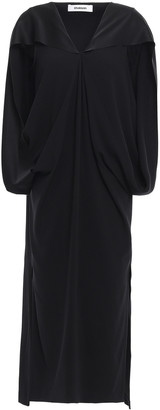 Chalayan Cape-effect Satin-crepe Midi Dress